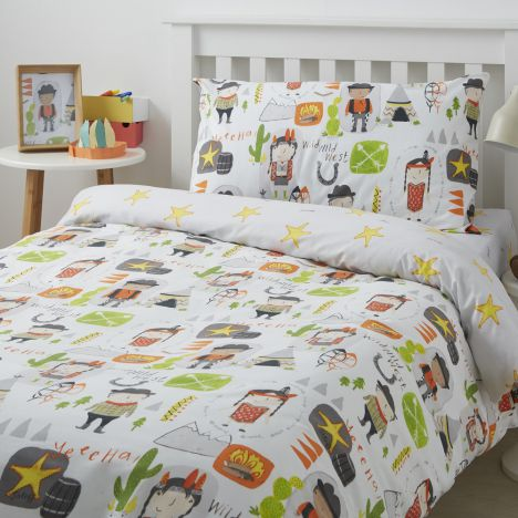 Cowboys and Indians Duvet Cover Set - Multi