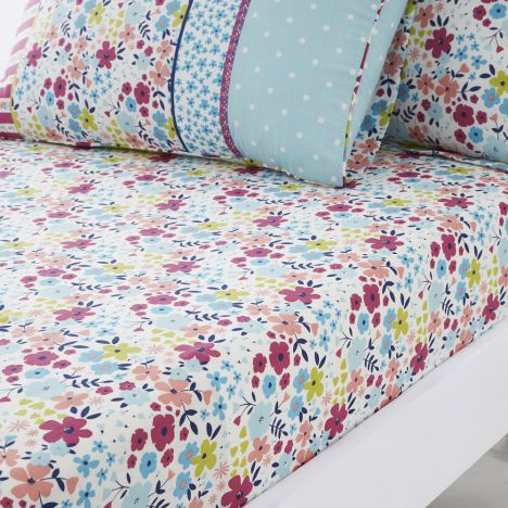 Joy Floral Fitted Sheet - Multi