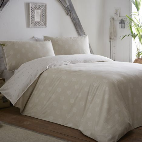 Appletree Shimla 100% Cotton Duvet Cover Set - Natural