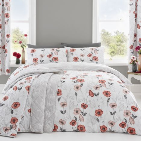 Fliss Floral Duvet Cover Set - Red