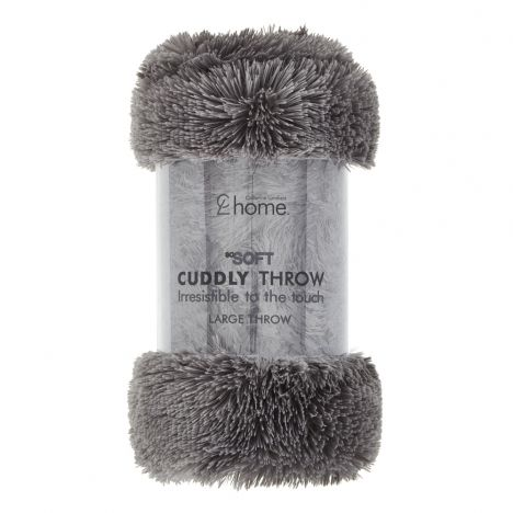 Catherine Lansfield Cuddly Throw - Charcoal Grey