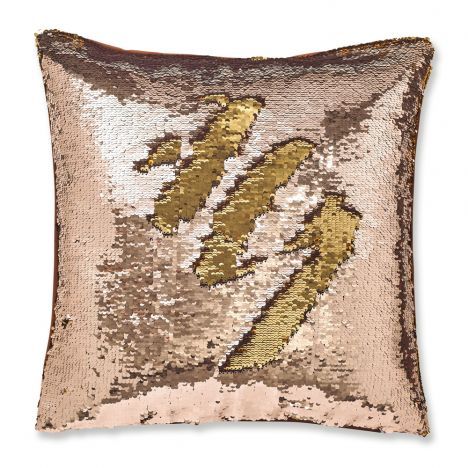 Catherine Lansfield Sequin Mermaid Cushion Cover - Bronze
