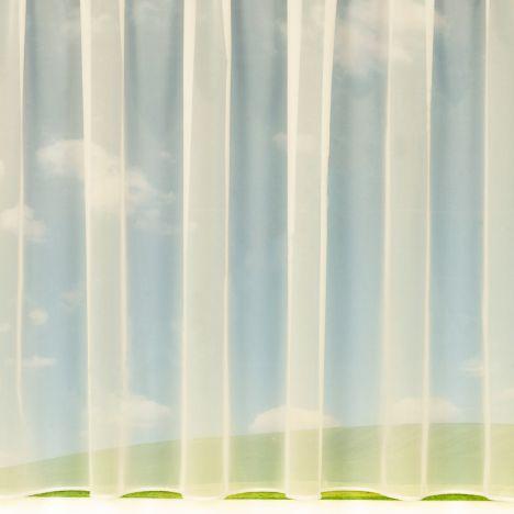 """Danielle Cream Net Curtain: 36"""" Drop"""