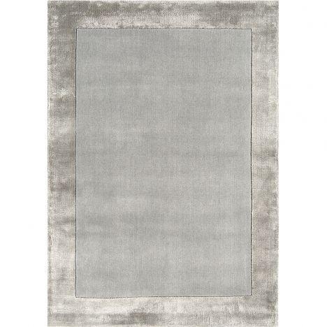 Ascot | Plain | Rug | Silver | Grey | Tonys Textiles