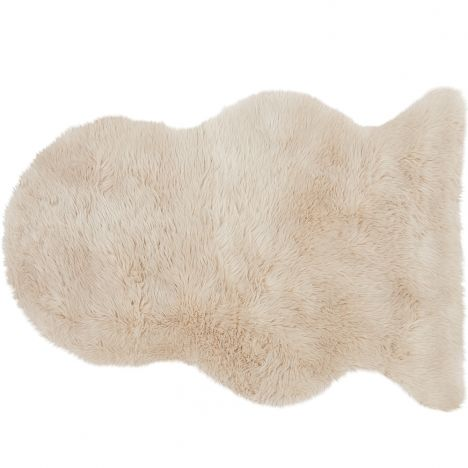 Auckland Luxury Faux Sheepskin Plain Rug - Honey
