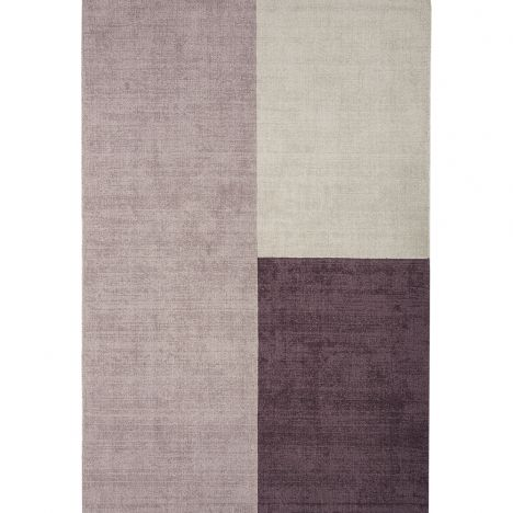 Blox Hand Woven Check Rug - Heather Pink