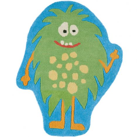 Candy Hand Tufted Kids Monster Rug - Blue Green 003