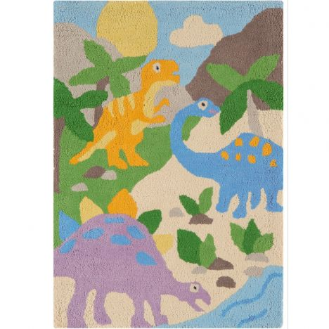 Candy Hand Tufted Kids Dinosaur Rug - Multi 0004