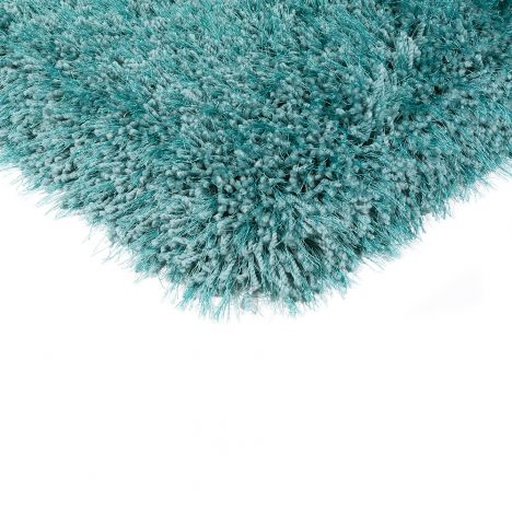 Cascade Table Tufted Plain Rug - Cerulean Aqua Blue