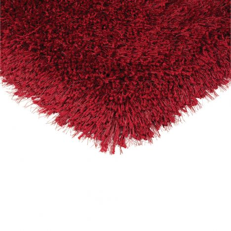Cascade Table Tufted Plain Rug - Ruby Red