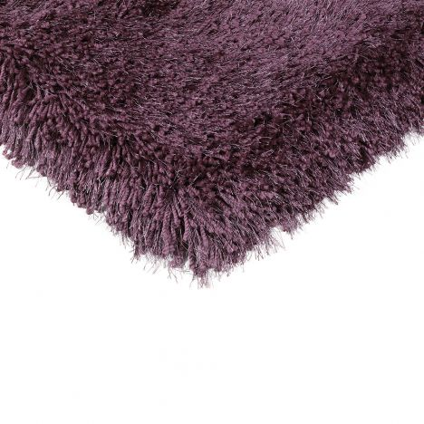 Cascade Circle Table Tufted Plain Rug - Violet Purple
