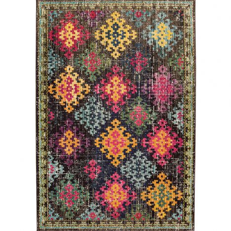 Colores Machine Woven Geometric Rug - Multi 10