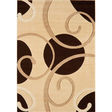 Couture Machine Woven Floral Rug - Natural Multi 05