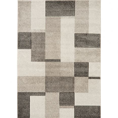 Couture Machine Woven Geometric Rug - Grey Natural Multi 14