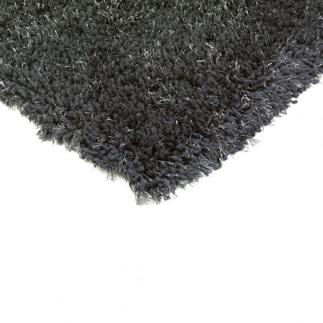 Diva Table Tufted Plain Rug - Charcoal Grey