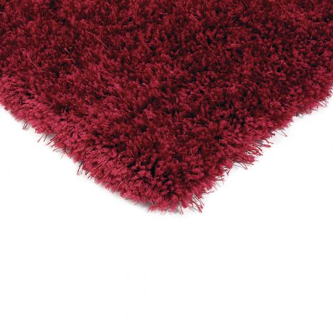 Diva Table Tufted Plain Rug - Red