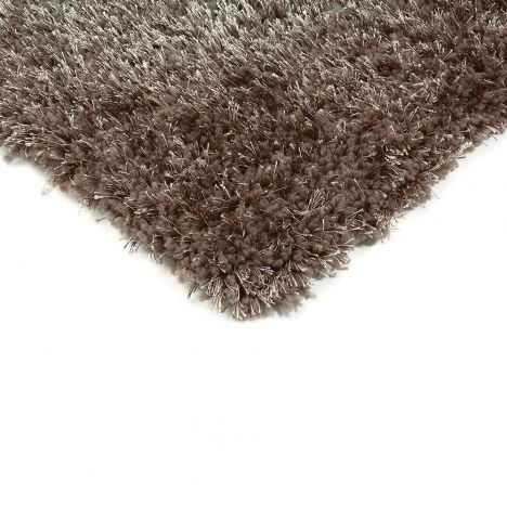 Diva Table Tufted Plain Rug - Taupe
