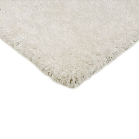 Diva Table Tufted Plain Rug - White