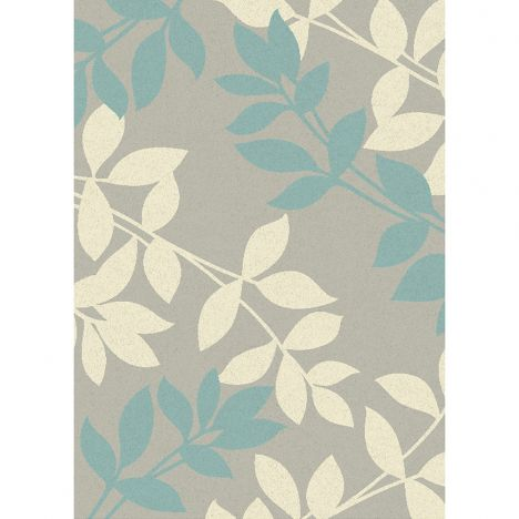 Focus Machine Woven Floral Rug - Teal Blue Multi 08