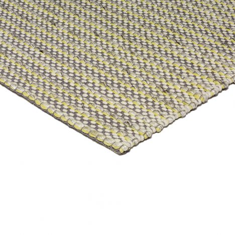 Linden Hand Woven Stripe Rug - Lemon Yellow