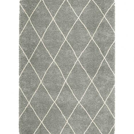 Logan Machine Woven Geometric Rug - Grey 08