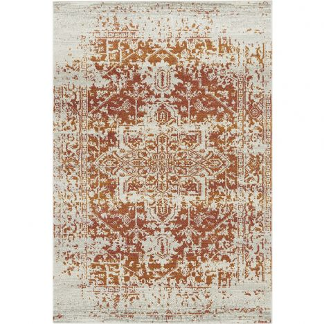 Nova Rug Machine Woven Vintage Rug - Orange 09