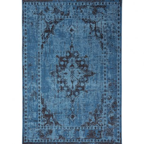 Revive Machine Made Floral Rug - Blue 04