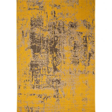 Revive Machine Made Plain Rug - Yellow 11