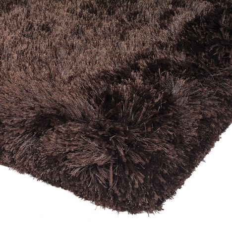 Plush Hand Woven Plain Rug - Dark Chocolate