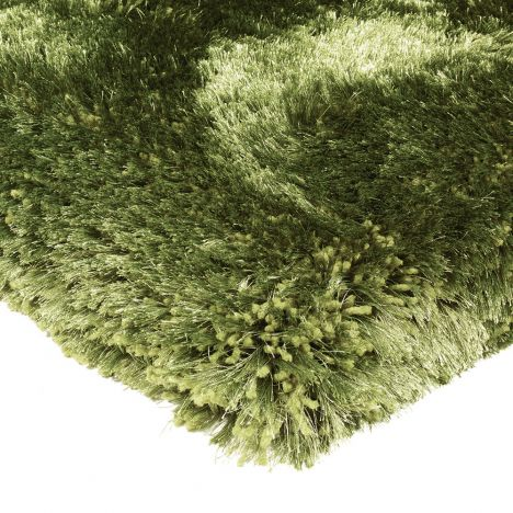 Plush Hand Woven Plain Rug - Green