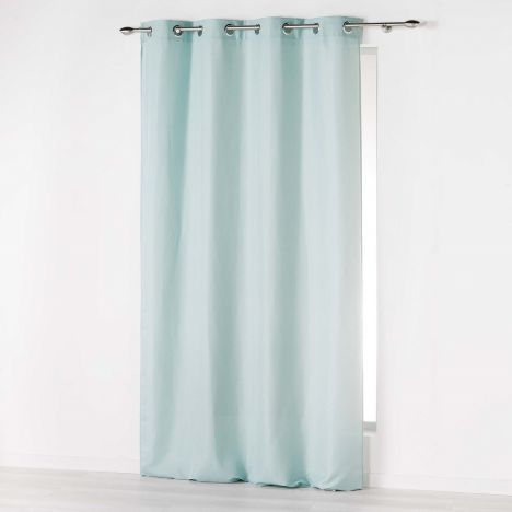Absolu Plain Ring Top Curtain Panel Mint Blue