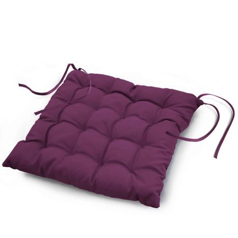 Essentiel Plain Quilted Seat Pad - Purple