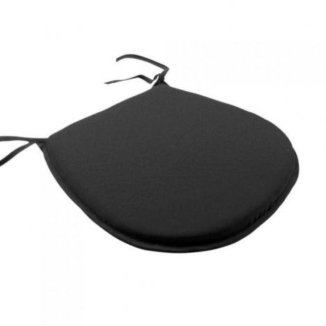 Plain Tie On Seat Pad - Black