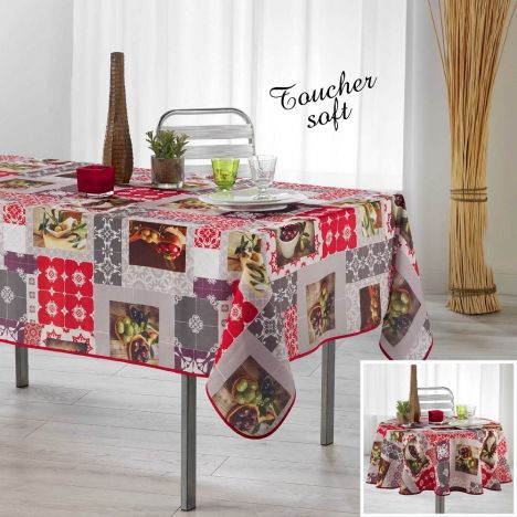 Prado Tablecloth with Printed Olives - Multi