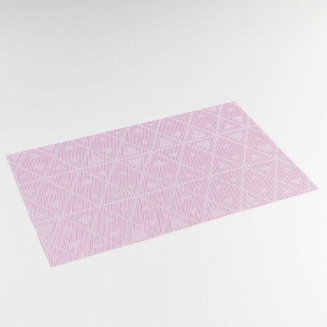 Trigone PVC Table Placemat - Pink: 30cm x 45cm