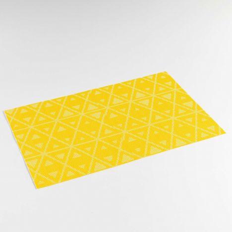 Trigone PVC Table Placemat - Yellow: 30cm x 45cm