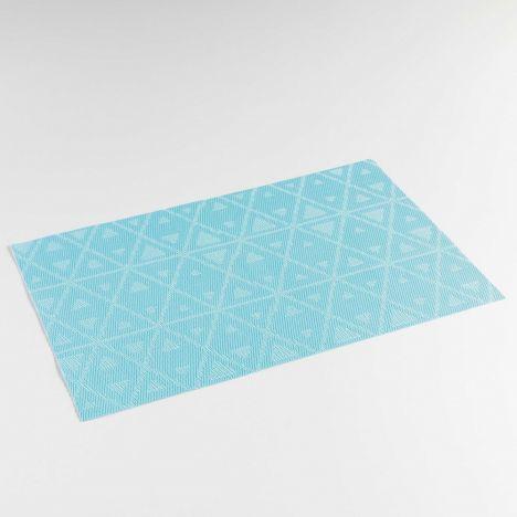 Trigone PVC Table Placemat - Blue: 30cm x 45cm