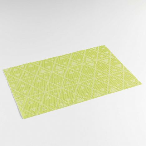 Trigone PVC Table Placemat - Green: 30cm x 45cm