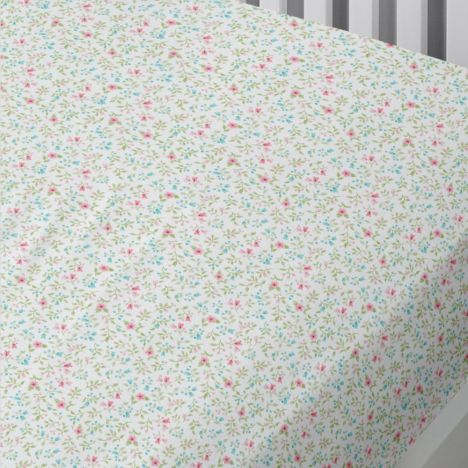 Cheeky Cats Floral Kids Fitted Sheet - Multi