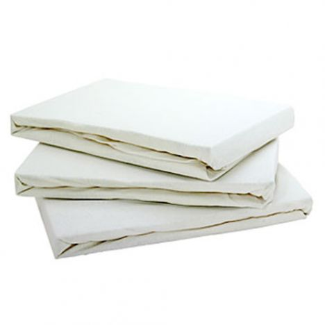 Jersey 100% Cotton Fitted Sheet Cream