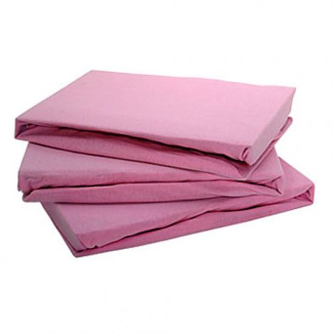 Jersey 100% Cotton Fitted Sheet Pink