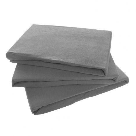 Jersey 100% Cotton Fitted Sheet - Grey