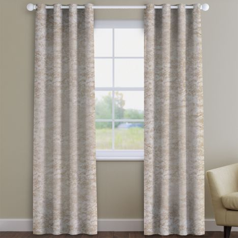 Crushed Velvet Ivory Made to Measure Curtains