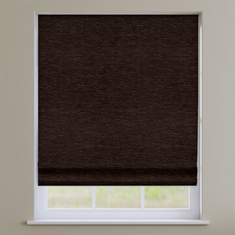 Kent Chenille Chocolate  Brown Roman Blind