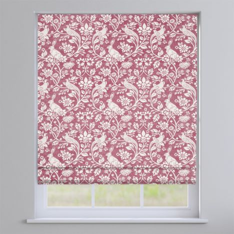 Moorland Elderberry Red  Roman Blind