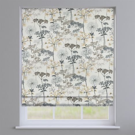 Hedgerow Charcoal Grey Roman Blind