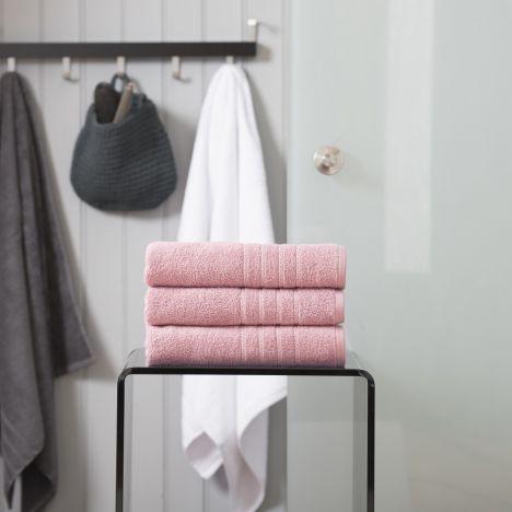 Pure Range 100% Cotton 450 GSM Towel - Blush Pink: Face Cloth
