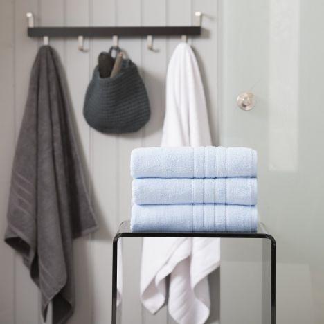 Pure Range 100% Cotton 450 GSM Towel - Cornflower Blue: Face Cloth