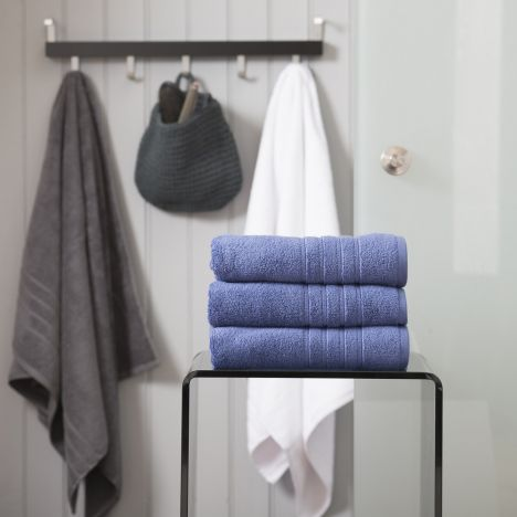 Pure Range 100% Cotton 450 GSM Towel - Marine Blue: Face Cloth