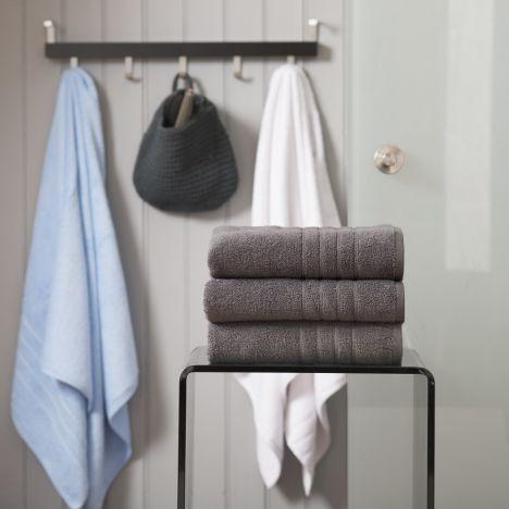 Pure Range 100% Cotton 450 GSM Towel - Granite Grey: Face Cloth